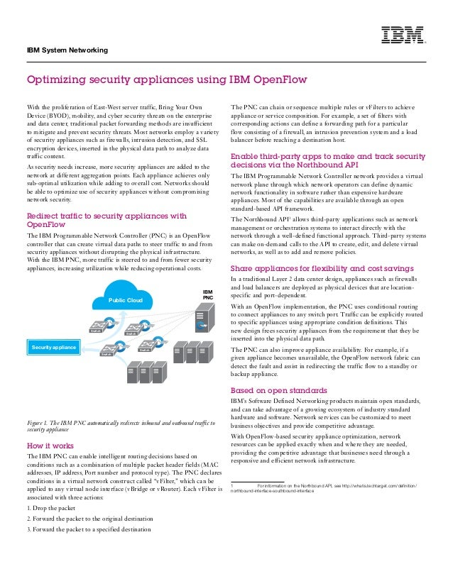 Optimizing Security Appliances with IBM OpenFlow