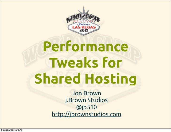 Optimizing WordPress Performance on Shared Web Hosting