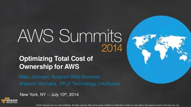 Optimizing Total Cost of Ownership for the AWS Cloud