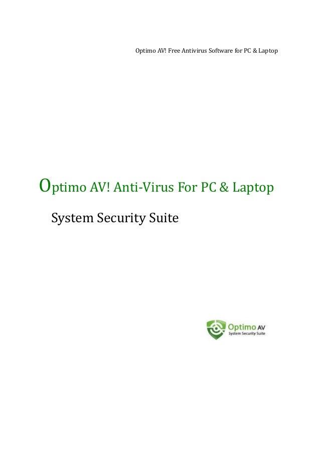 Optimo AV! Free Antivirus Software for PC & Laptop