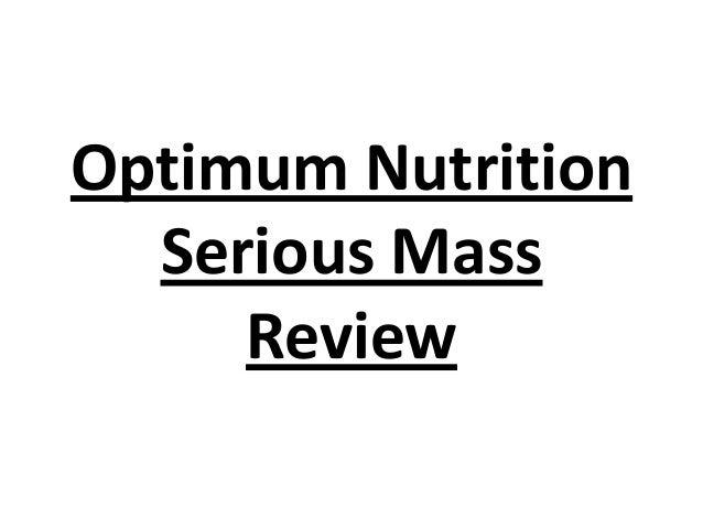Optimum Nutrition Serious Mass Review