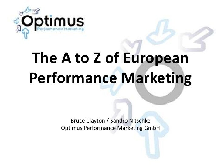 The A-Z of Performance Marketing