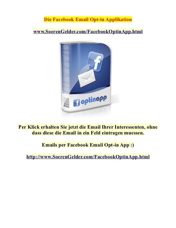 Facebook Email Opt-in App