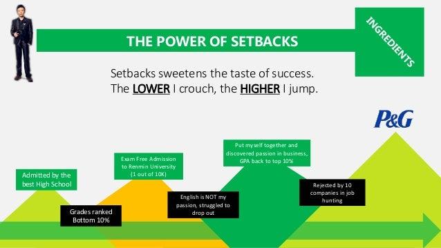 3 setbacks harvard essay