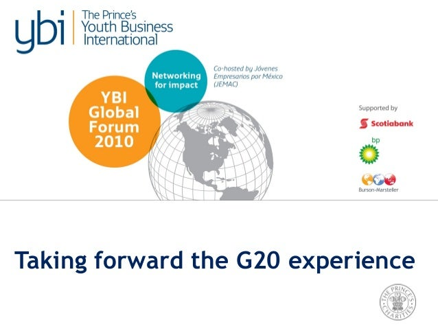 TUESDAY. Strategic Thinking: Taking Forward the G20 Experience (Option B)