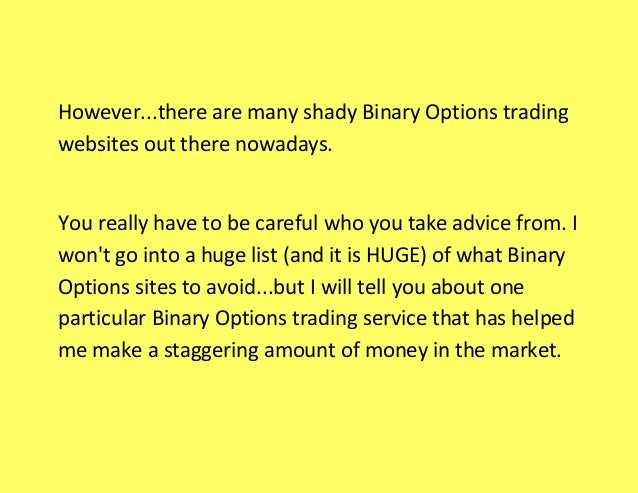 Binary options trading bot