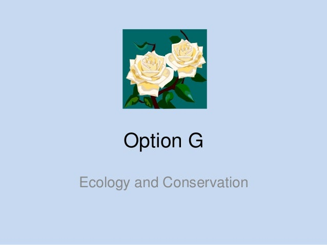 Option GEcology and Conservation