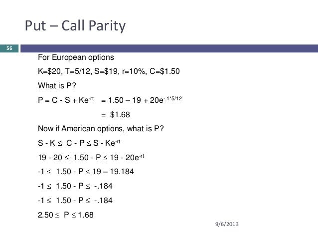 European binary call option