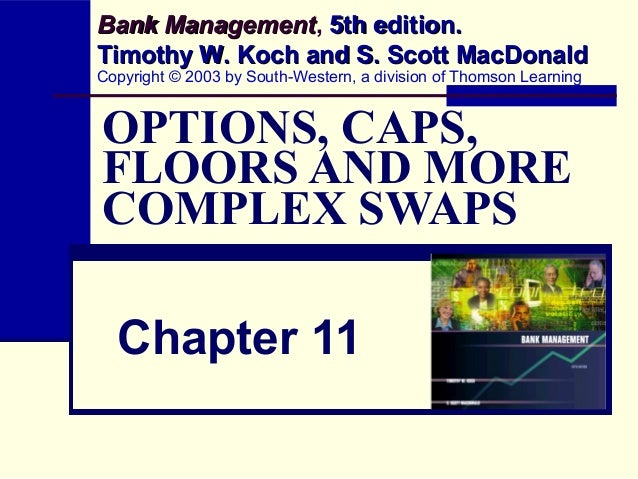 OPTIONS, CAPS, FLOORS AND MORE COMPLEX SWAPS Chapter 11 Bank ManagementBank Management, 5th edition.5th edition. Timothy W...