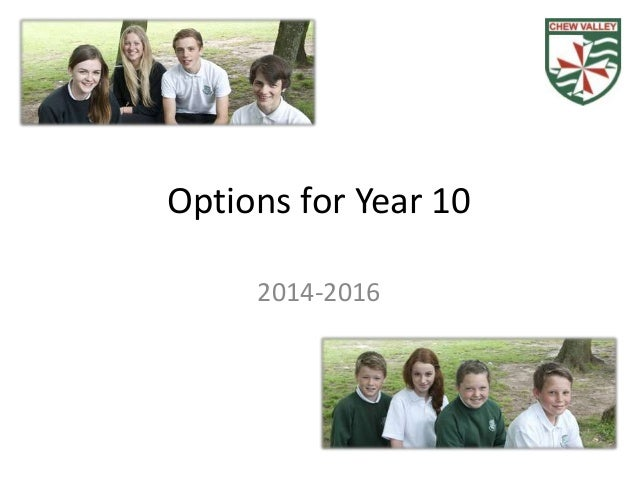 Options for Year 10 2014-2016