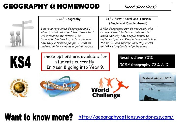 GEOGRAPHY @ HOMEWOOD<br />Need directions?<br />These options are available for <br />students currently <br />In Year 8 g...