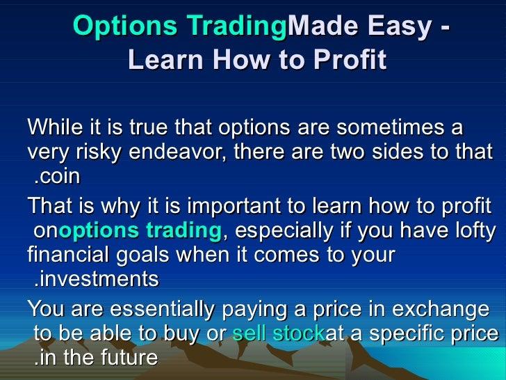 Option trading made easy pdf