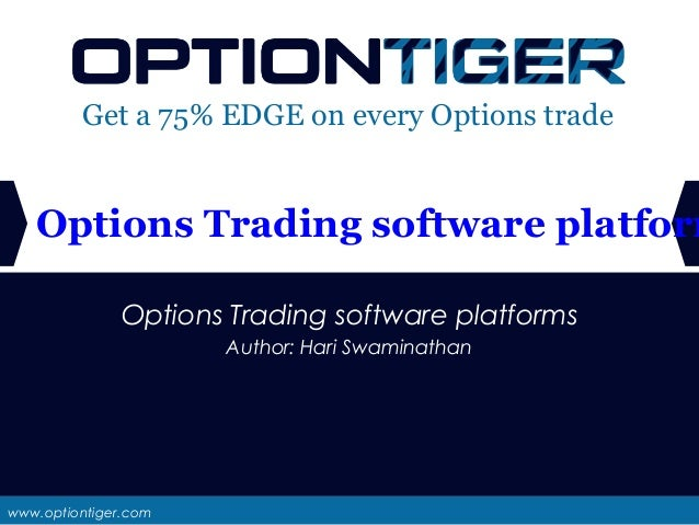 Stock option trading platforms