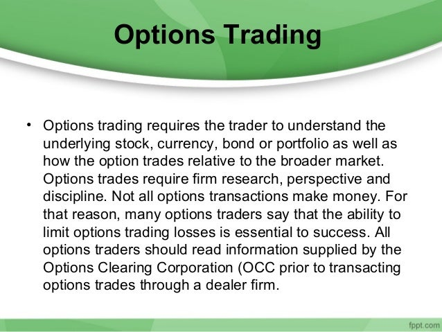 Options trading in india forum