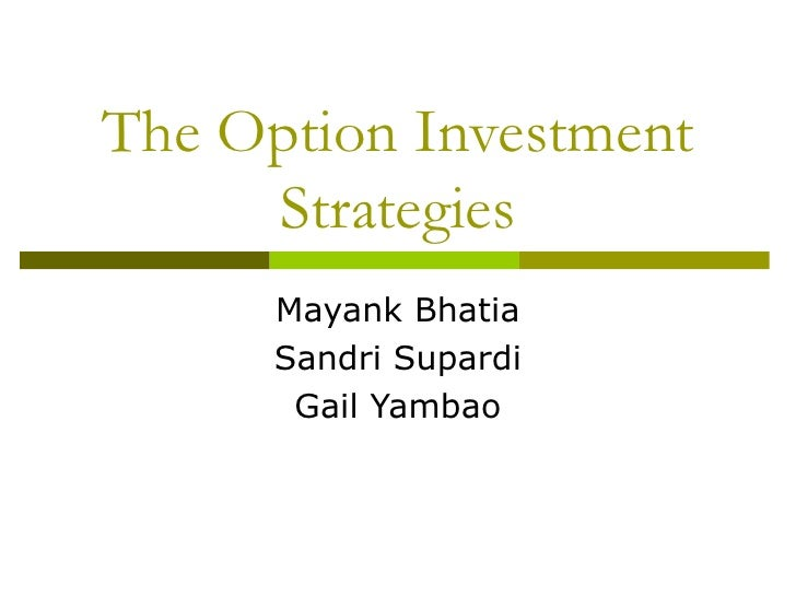 Trading strategies used in options