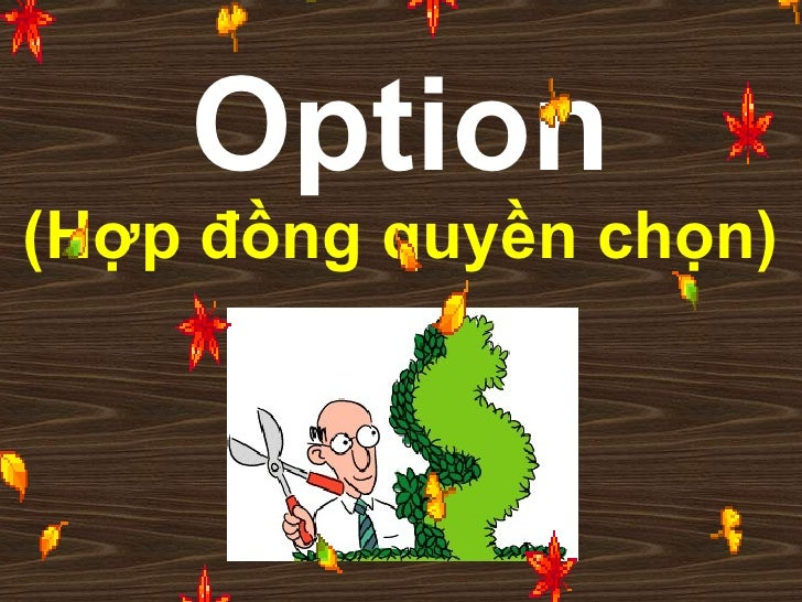 Option (Hợp đồng quyền chọn)