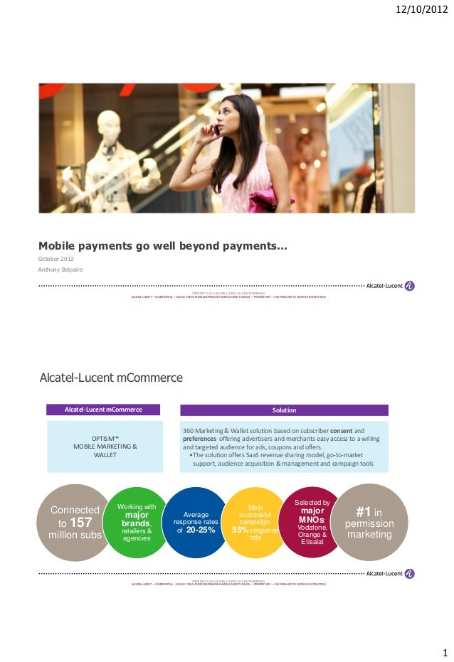 Optism Alcatel-Lucent Anthony Belpaire Mobile Payments Conference Presentation