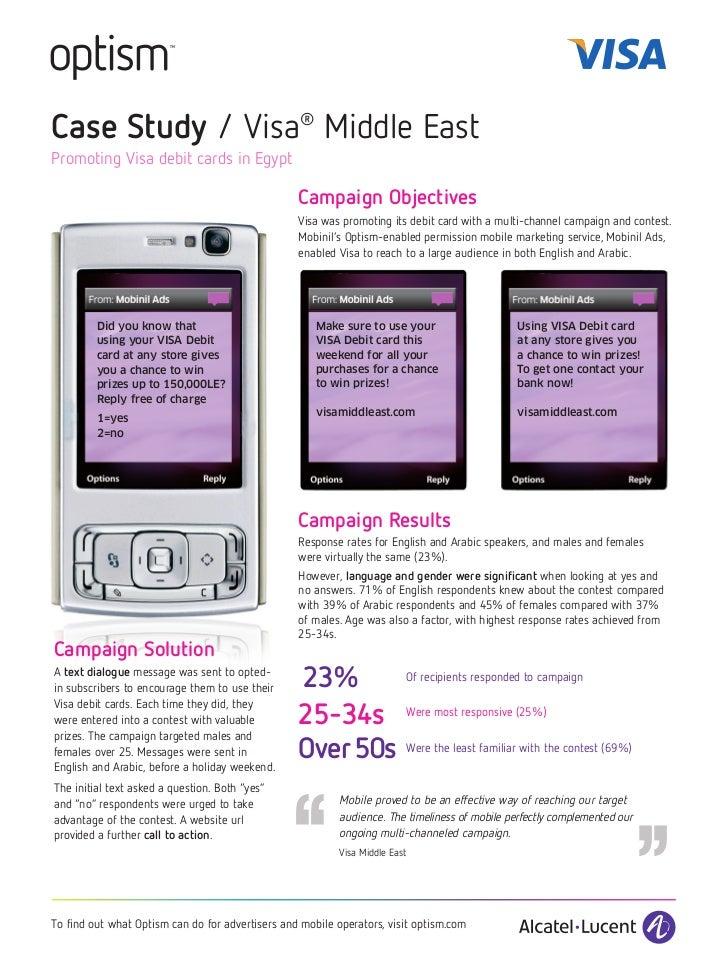 Case Study / Visa® Middle EastPromoting Visa debit cards in Egypt                                                  Campaig...