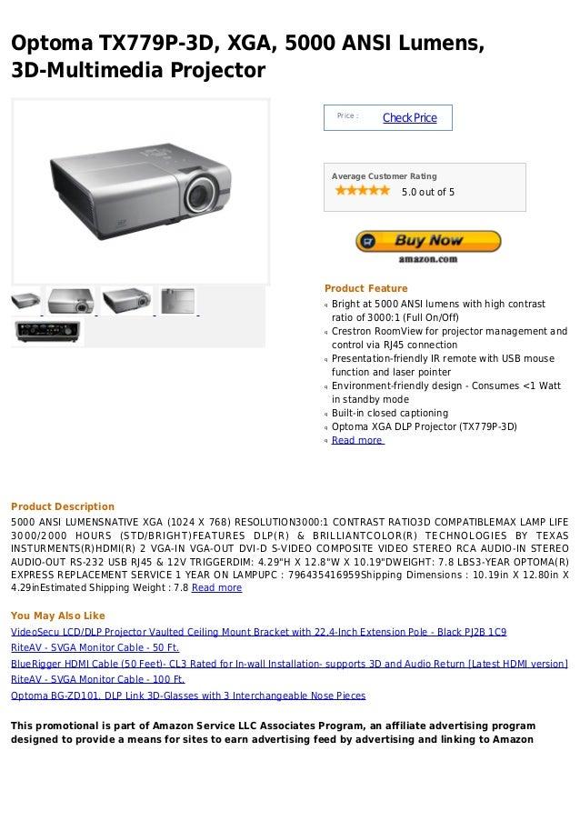 Optoma tx779 p 3d, xga, 5000 ansi lumens, 3d-multimedia projector
