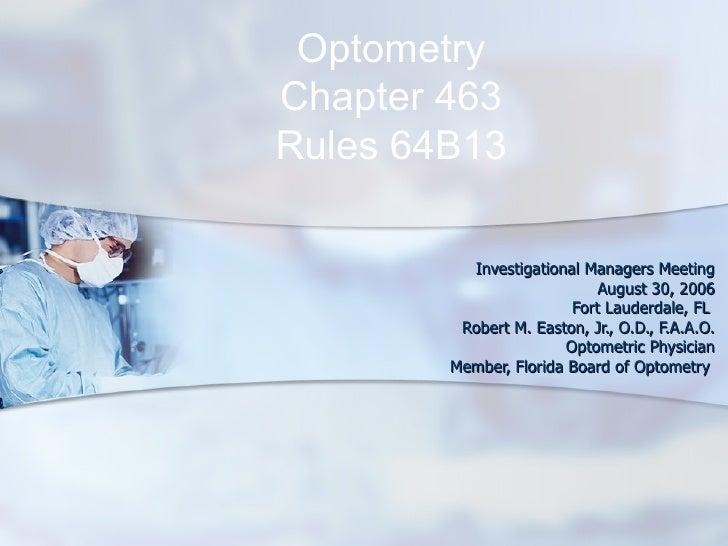 Optometry Investigators