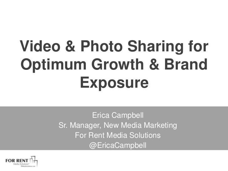 Video Sharing for Optimum Growth & Brand Exposure #OptSum