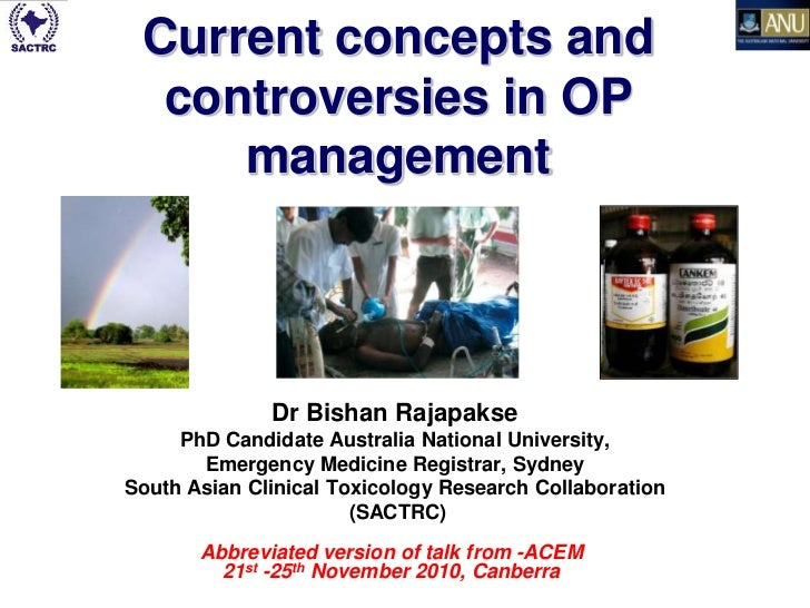 Current concepts and  controversies in OP     management                 Dr Bishan Rajapakse     PhD Candidate Australia N...