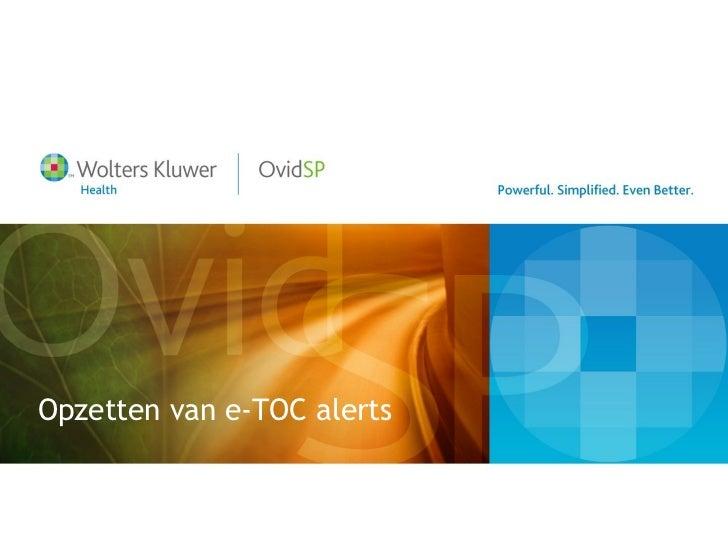 Opzetten van e-TOC alerts