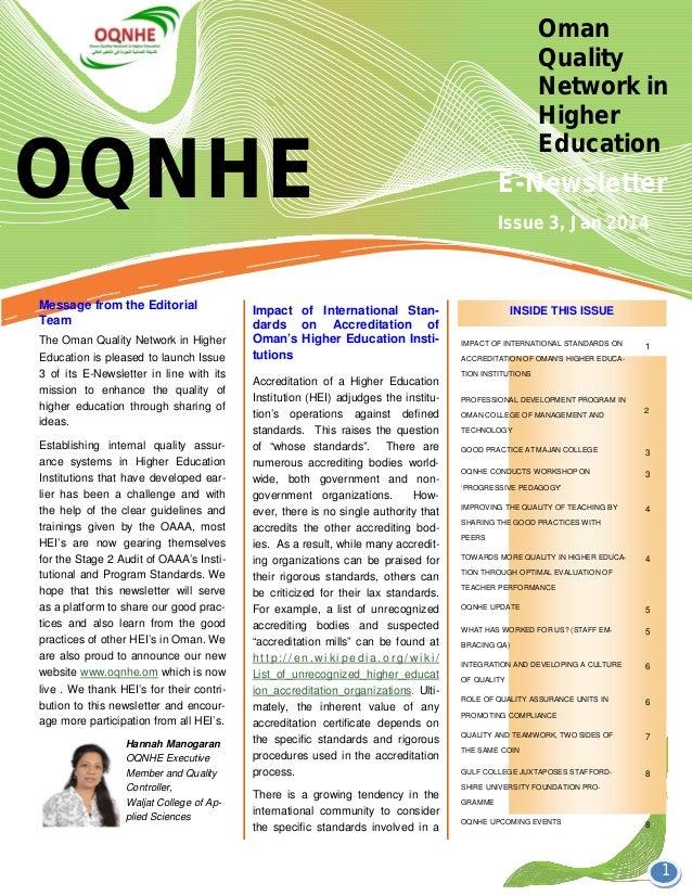Oqnhe newsletter issue 3