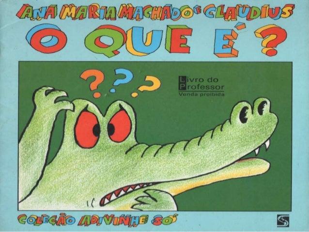 O que é   Ana Maria Machado