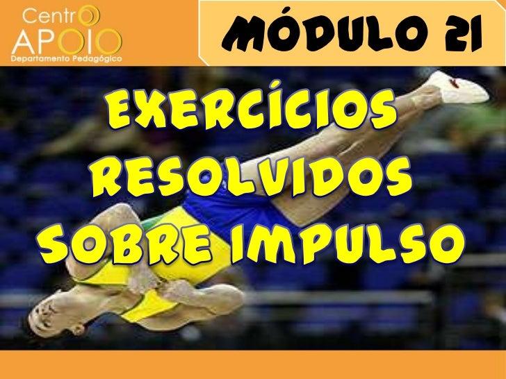 Física – Exercícios sobre Impulso
