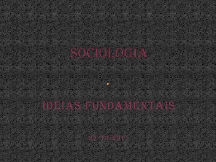 O que é sociologia- Jéssica Markline