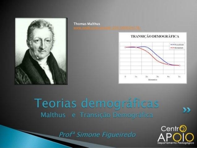 www.AulasParticularesApoio.Com - Teorias Demográficas