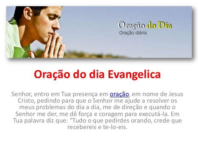 Oração do dia evangelica