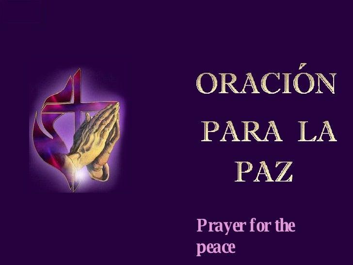 OracióN Para La Paz S & E