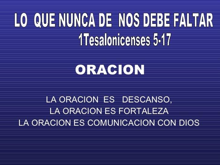 Oracion  Y  Mas Oracion