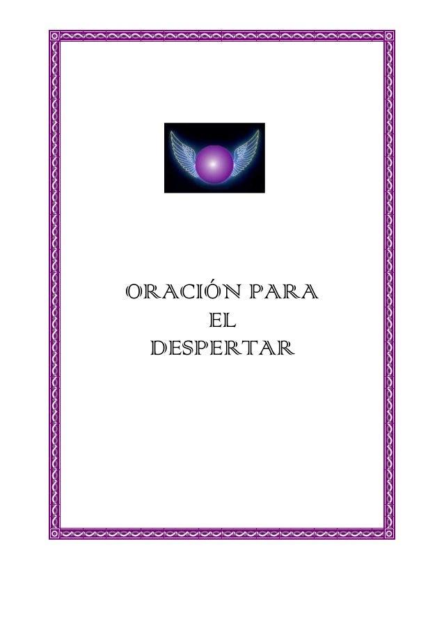 ORACIÓN PARA EL DESPERTAR