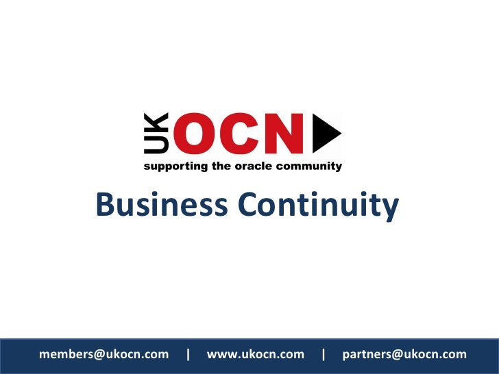 Oracle Business Continuity