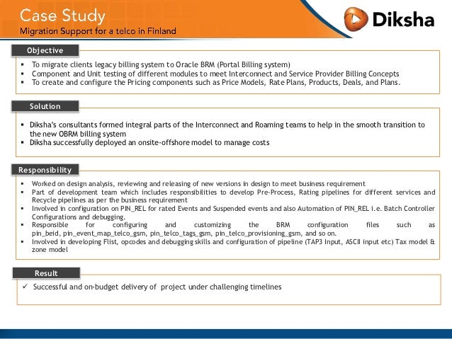 oracle case study in dbms Infosys has made successful oracle implementations, delivering enhanced productivity for clients in us, the middle east and china  case studies × infosys helps.