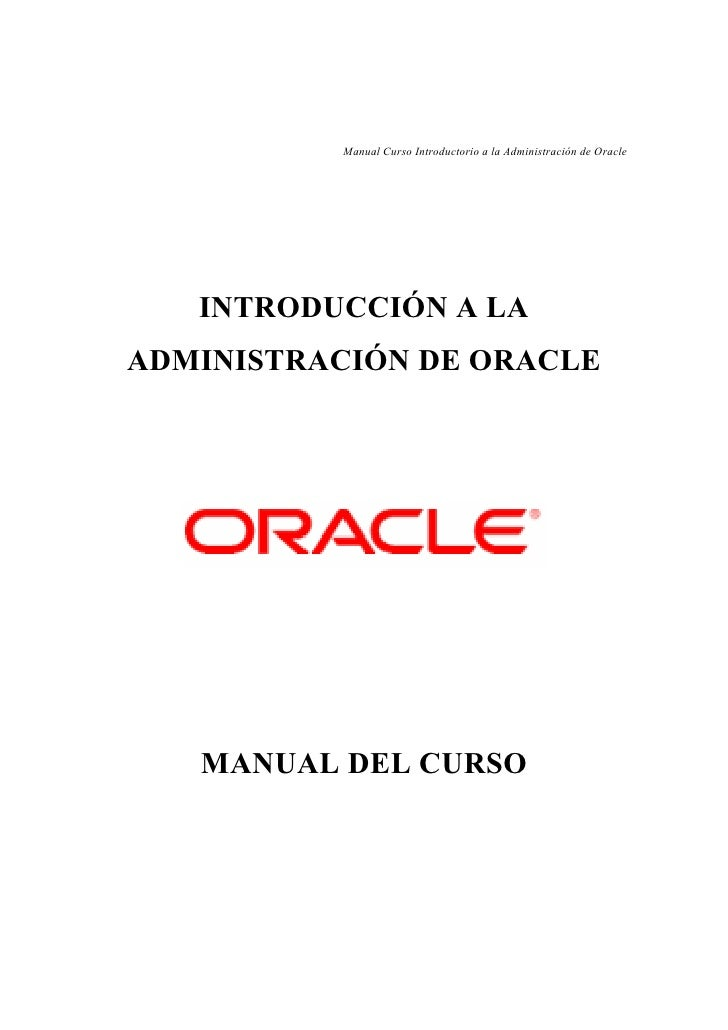 Oracle introduccion