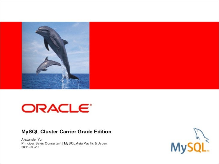 Oracle my sql cluster cge