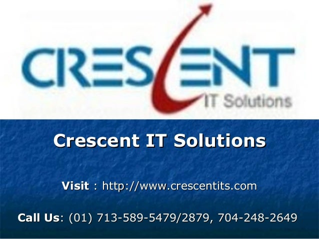 Oracle 10g Online Training & Placement Support @ Crescent IT Solutions