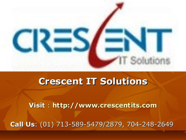 Oracle 11g Online Training & Placement Support @ Crescent IT Solutions