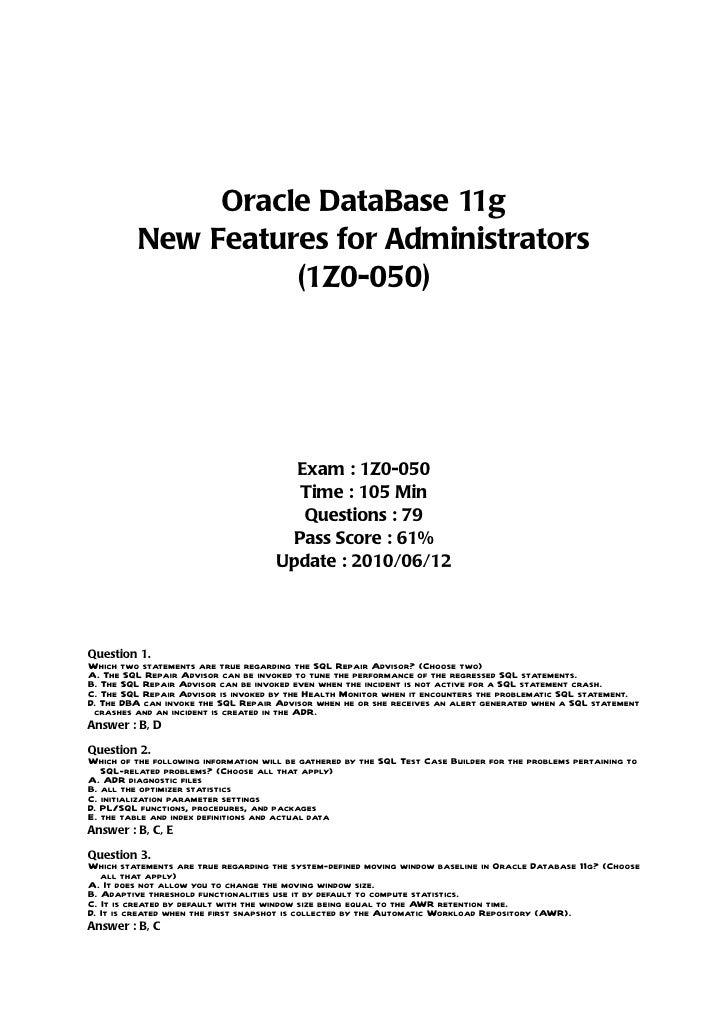 Oracle11g(1z0 050) v100612[1]