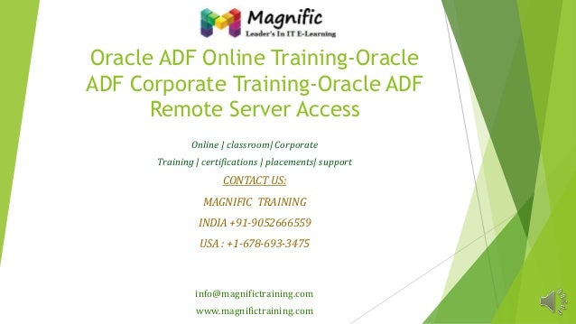Oracle adf online training oracle adf corporate training-oracle adf remote server access