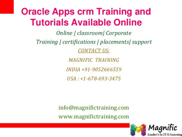 Oracle apps crm training and tutorials available online