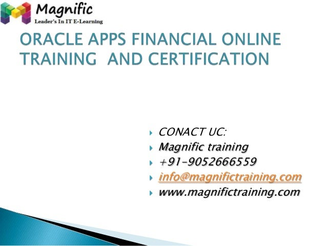 Oracle apps financial online training