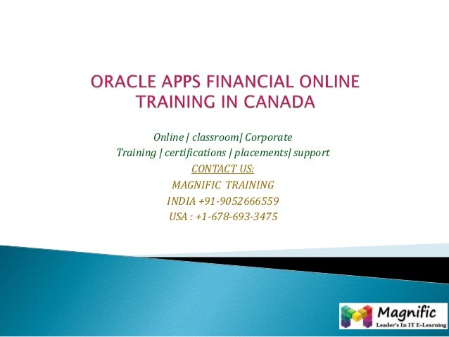 Oracle apps financial online training in canada