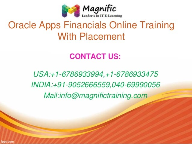 Oracle apps financials online training with placement