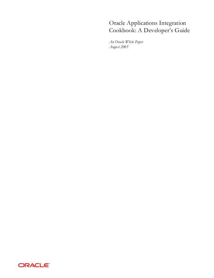 Oracle apps integration_cookbook