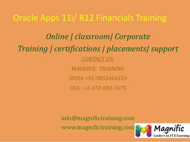 Oracleappsr12functionalonlinetrainingandplacement